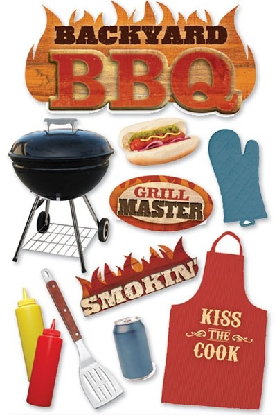 Backyard BBQ 3D Scrapbooking Stickers