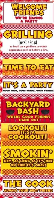 Backyard BBQ Chipboard Scrapbooking Stickers