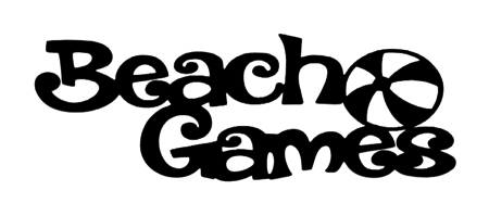 Beach Games Scrapbooking Laser Cut Title with Ball