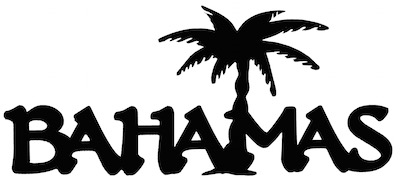 Bahamas Scrapbooking Laser Cut Title with a Palm Tree