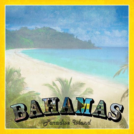 Bahamas Vintage 12x12 Scrapbooking Paper