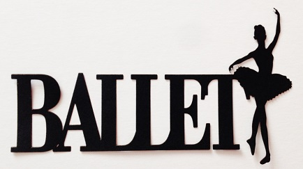 Ballet Scrapbooking Laser Cut Title with Ballerina