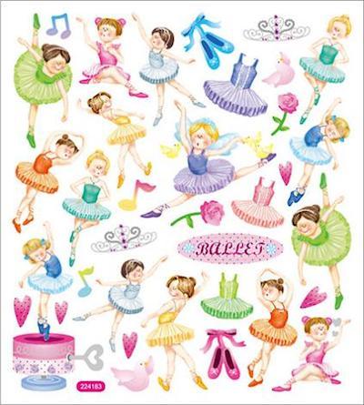 Ballet Shiny Scrapbooking Stickers
