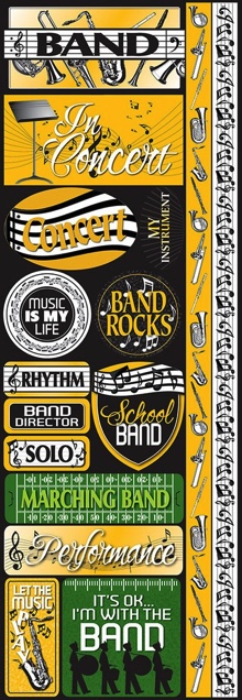 Band Cardstock Scrapbooking Stickers and Borders