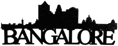 Bangalore Scrapbooking Laser Cut Title with Skyline