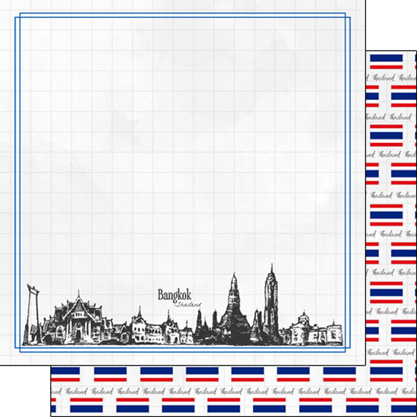 Bangkok Adventure 12x12 Double Sided Scrapbooking Paper