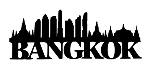 Bangkok Scrapbooking Laser Cut Title with Skyline