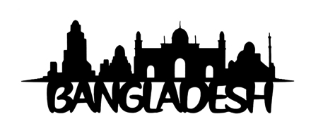 Bangladesh Scrapbooking Laser Cut Title with Skyline
