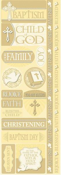 Baptism Cardstock Scrapbooking Stickers and Borders