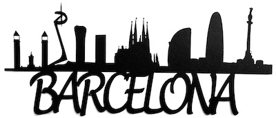 Barcelona Scrapbooking Laser Cut Title with Skyline