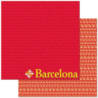 Barcelona 12x12 Double Sided Scrapbooking Paper