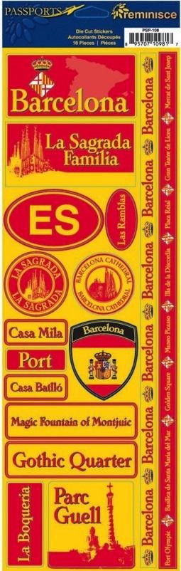 Barcelona Cardstock Scrapbooking Stickers and Borders