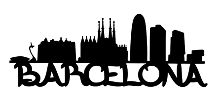 Barcelona Scrapbooking Laser Cut Title with Buildings