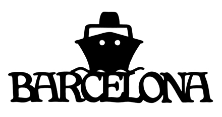 Barcelona Scrapbooking Laser Cut Title with Ship