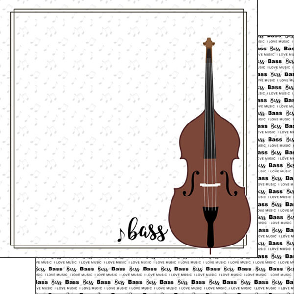 Bass Strings 12x12 Double Sided Scrapbooking Paper
