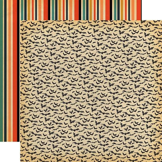 Bats Galore Double Sided 12x12 Scrapbooking Paper
