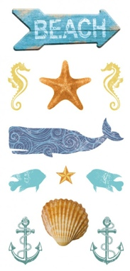 Beach Scrapbooking Mini Stickers