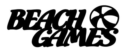 Beach Games Scrapbooking Laser Cut Title with Ball