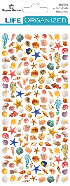 Beach Shells Micro Scrapbooking Stickers