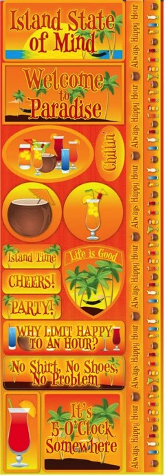 Tale of the Tropics Cardstock Scrapbooking Stickers and Borders