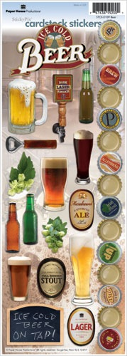 Beer Cardstock Scrapbooking Stickers