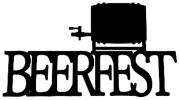 Beerfest Scrapbooking Laser Cut Title with Beer Tap