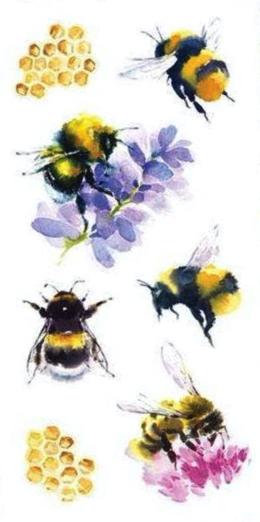 Bees Scrapbooking Mini Stickers