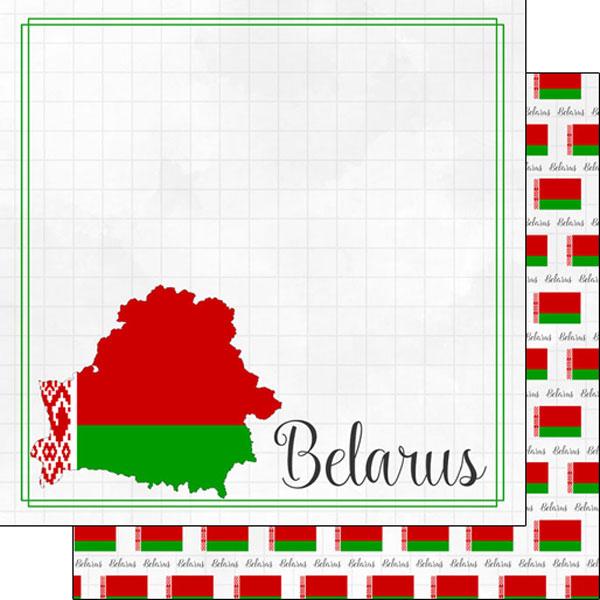Belarus 12x12 Double Sided Scrapbooking Paper