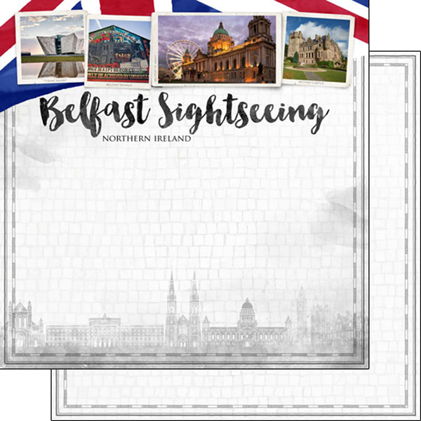 Belfast Sightseeing 12x12 Double Sided Scrapbooking Paper