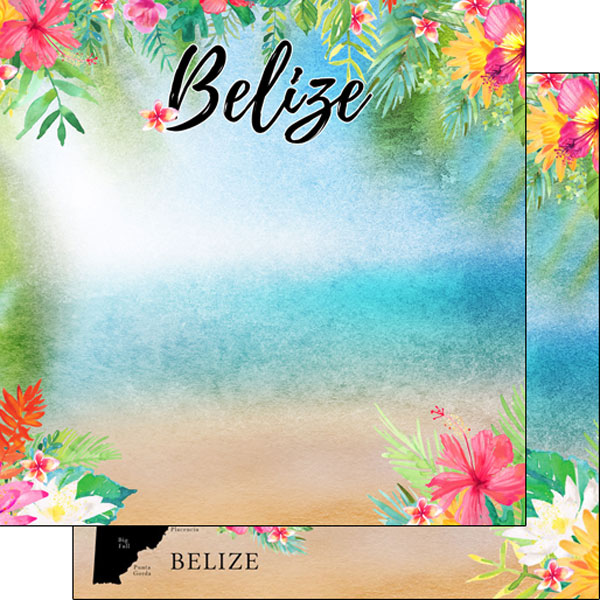 Belize Getaway 12x12 Double Sided Scrapbooking Paper