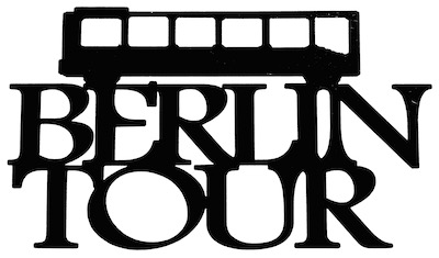 Berlin Tour Scrapbooking Laser Cut Title with Bus