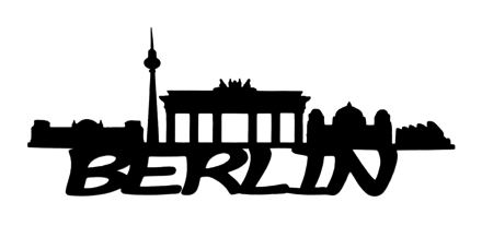 Berlin Scrapbooking Laser Cut Title with Skyline