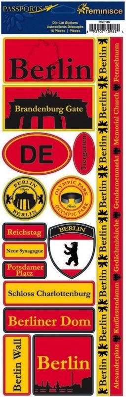 Berlin Cardstock Scrapbooking Stickers and Borders