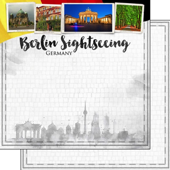 Berlin Sightseeing 12x12 Double Sided Scrapbooking Paper