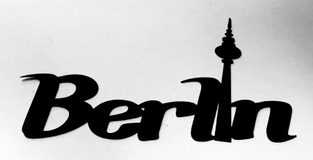 Berlin Scrapbooking Laser Cut Title with tv antenna