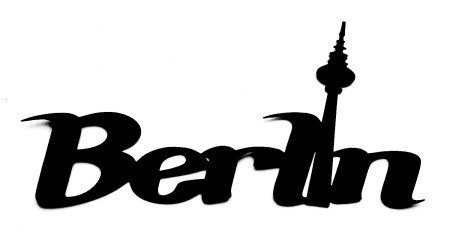 Berlin Scrapbooking Laser Cut Title with TV Tower