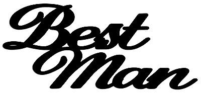 Best Man Scrapbooking Laser Cut Title