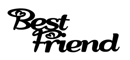 Best Friend Scrapbooking Laser Cut Title
