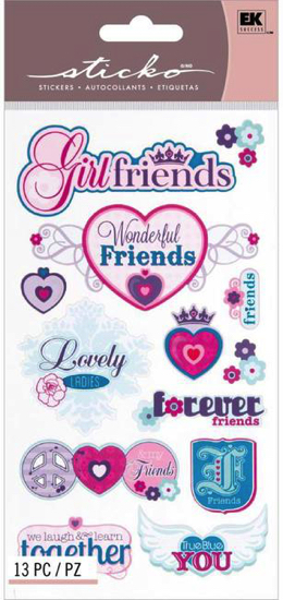 Best Girlfriends Scrapbooking Stickers with Foil