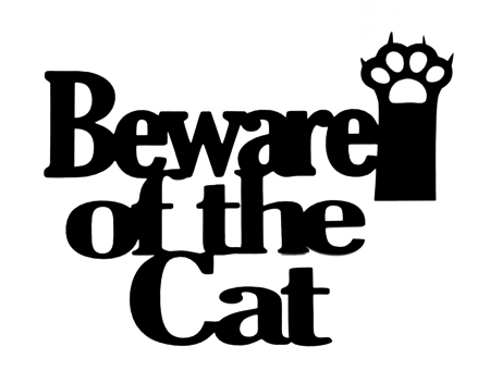Beware of the Cat Large Scrapbooking Laser Cut Title