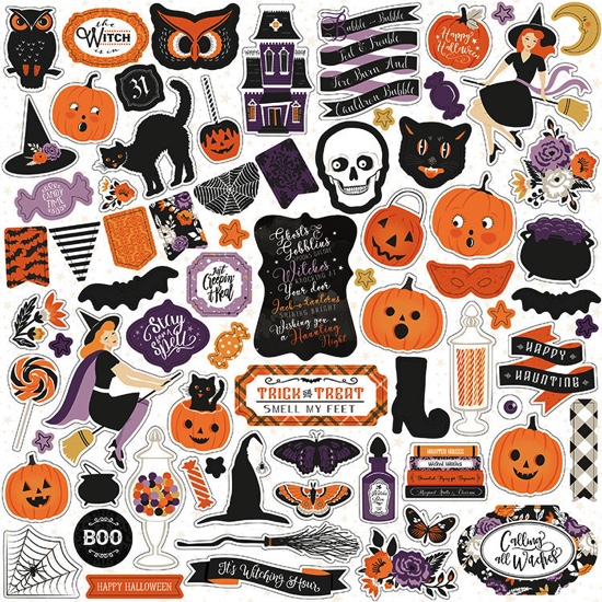 Bewitched 12x12 Cardstock Scrapbooking Stickers