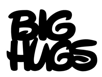 Big Hugs Scrapbooking Laser Cut Title