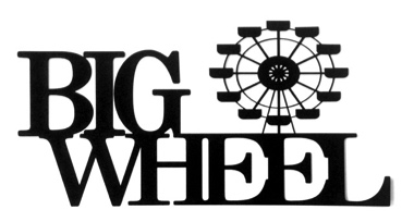 Big Wheel Scrapbooking Laser Cut Title with Wheel
