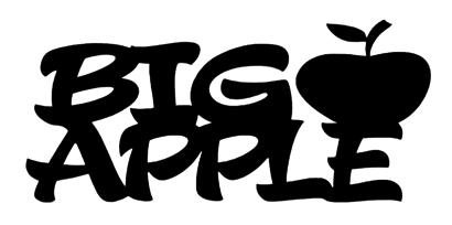 Big Apple Scrapbooking Laser Cut Title with Apple