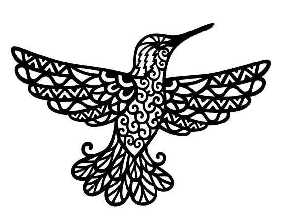 Hummingbird Intricate Laser Cut