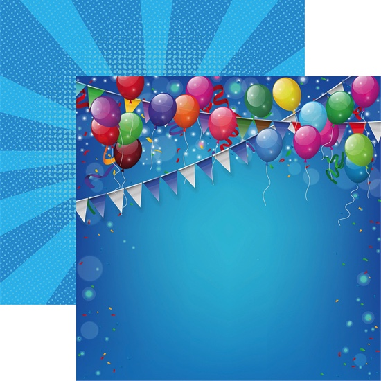 Birthday Bash Double Sided 12x12 Scrapbooking Paper