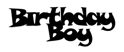 Birthday Boy Scrapbooking Laser Cut Title