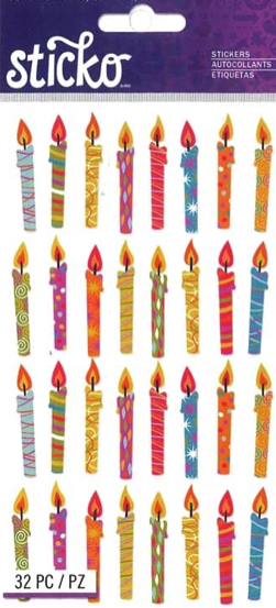 Birthday Candles Scrapbooking Stickers