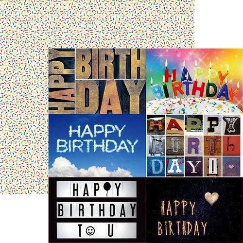 Birthday Cards Double Sided 12x12 Scrapbooking Paper