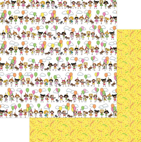 Birthday Girl Double Sided 12x12 Scrapbooking Paper